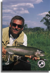 Fly fishing instructor Jon B. Cave