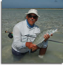 Fly-casting to bonefish lessons